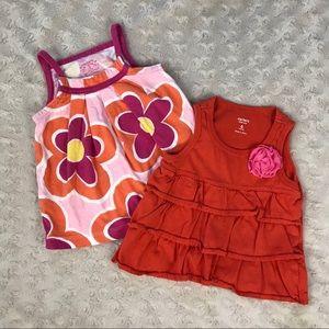 Carter's Baby Girl Tops Bundle Orange Pink Floral